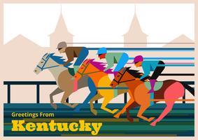 Illustrazione di cartolina di Kentucky Derby vettore