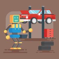 ai meccanica illustrazione vettore