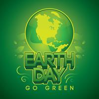 Il giorno di Eart Day va vettore verde
