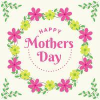 Design elegante cartolina d'auguri con fiori colorati sfondo decorato vettore