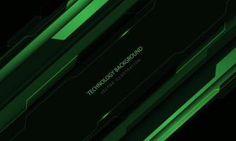 tecnologia astratta circuito cyber tono verde taglio metallico velocità design moderno sfondo futuristico illustrazione vettoriale. vettore