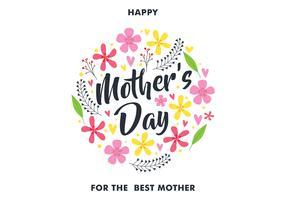 felice giorno di madri auguri vettore