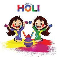 celebrazione del festival indiano di holi vettore