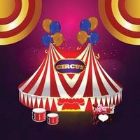 sfondo del segno di luce del circo vettore