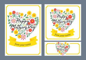 Happy Mothers Day card vettore