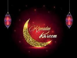 Ramadan Kareem celebrazione sfondo islamico vettore