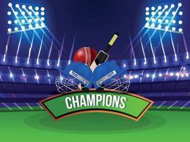 torneo di campionato di cricket vettore