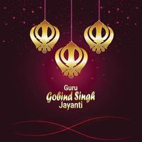guru gobind singh jayanti sikh dasam guru celebratrion vettore