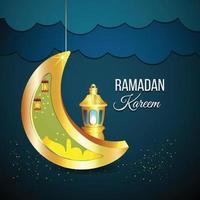 ramadan kareem con sfondo creativo vettore