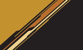 astratto triangolo giallo arancione circuito cyber linea su grigio con uno spazio vuoto design moderna tecnologia futuristica sfondo illustrazione vettoriale. vettore