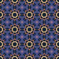 seamless con mandala astratta arabesco ornamentale illustrazione. motivo decorativo classico delle mattonelle. vettore