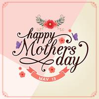 carta di giorno della madre felice vettore