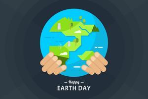 vettore del giorno della terra