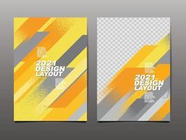 set di modelli di copertina gialla
