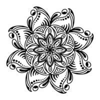 elemento mandala di disegno a mano zentangle per carte di decorazione di pagine, libri, loghi vettore