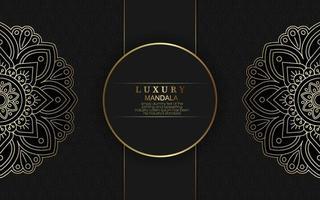 sfondo modello mandala di lusso con arabeschi dorati vettore