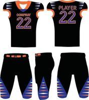 illustrazioni di uniformi di football americano di design personalizzato