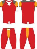 illustrazione delle divise da football americano di design personalizzato