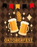 banner di celebrazione della birra più oktoberfest vettore