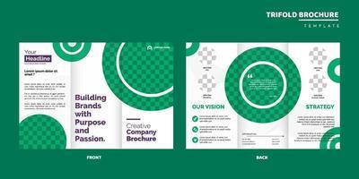 modello di progettazione brochure aziendale a tre ante vettore