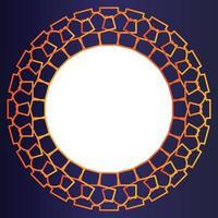 modello di cornice per foto arancione sfumato su sfondo sfumato vettore