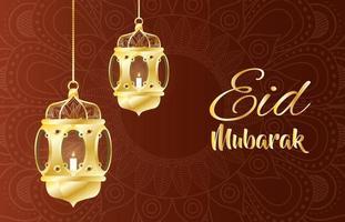 lampade a sospensione per la decorazione del ramadan kareem vettore