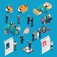reclutamento assunzione di persone isometriche di gestione delle risorse umane vettore