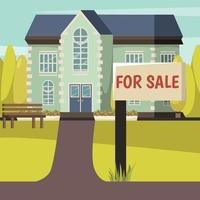 casa in vendita sfondo vettore