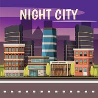 sfondo della città di notte vettore