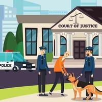 avvocato diritto giustizia ortogonale piatto vettore