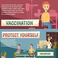 banner ortogonali di vaccinazione obbligatoria vettore