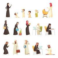 arabi impostare illustrazione vettore