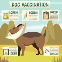 sfondo ortogonale di vaccinazione del cane vettore