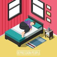sfondo di persone di stress e depressione vettore