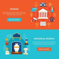illustrazione vettoriale piatto del Museo