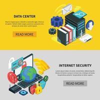 servizi cloud isometrici vettore