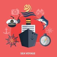 illustrazione vettoriale nautico