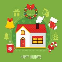 illustrazione vettoriale piatto di Natale