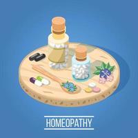 composizione isometrica di medicina alternativa vettore