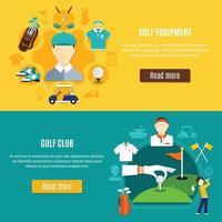 set di banner di golf vettore