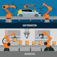 composizioni di automazione piatte vettore