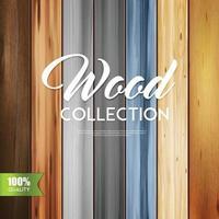 insieme verticale di struttura in legno realistico vettore