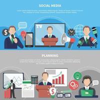 illustrazione vettoriale di riunione di lavoro