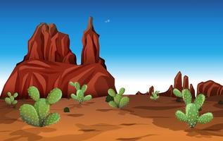 una scena del deserto di notte vettore