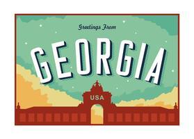 augusta illustrazione cartolina georgia