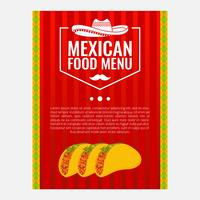 Illustrazione di vettore del menu di cibo messicano