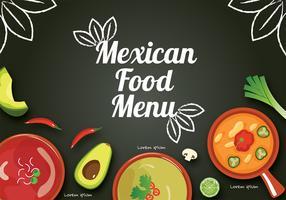 Progettazione di vettore del menu dell'alimento messicano