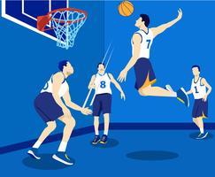 Vettore dei giocatori di pallacanestro