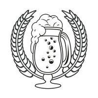 icona isolata boccale di birra vettore