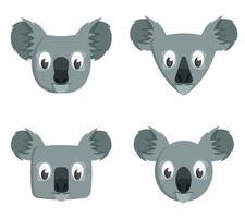 set di koala del fumetto. vettore